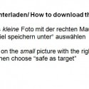 How to safe the fotos